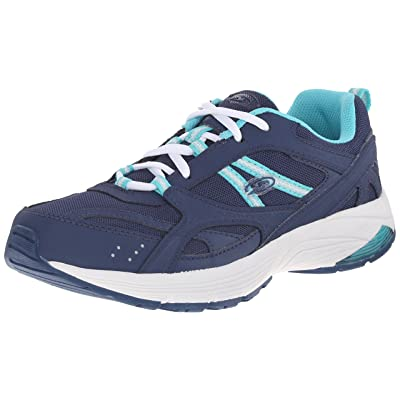 Dr. Scholl's Women's Curry Fashion Sneaker, Navy/Green, 9.5 M US | Walking