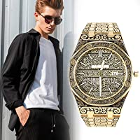 shadiao Mecca Edition Vintage Carved Watch Luxury Islamic Wrist Watch for Men Business