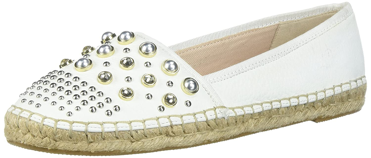 Kenneth Cole New York Women's Brigid Espadrille with Stud Ballet Flat B078DF8GHY 9 B(M) US|White