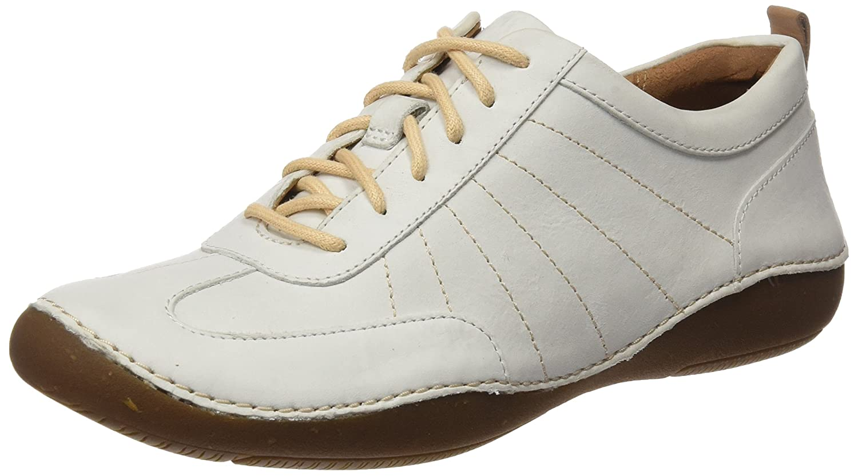 Clarks Autumn Garden, Zapatillas para Mujer 41.5 EU|Blanco (White Nubuck)