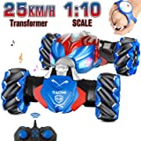 NQD RC Car, 1:10 Large Off Road Remote Control Monster Truck, Gesture Sensing Double Sided Remote Control Car with Cool Light