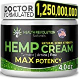 Extra Strength Hemp Cream Pain Relief Rub – Only 3rd Party Tested Product To Verify Strength/Results. All Natural for Nerve-S