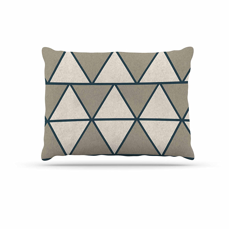 KESS InHouse NL Designs Shamrocks Green Holiday Dog Bed, 50  x 40