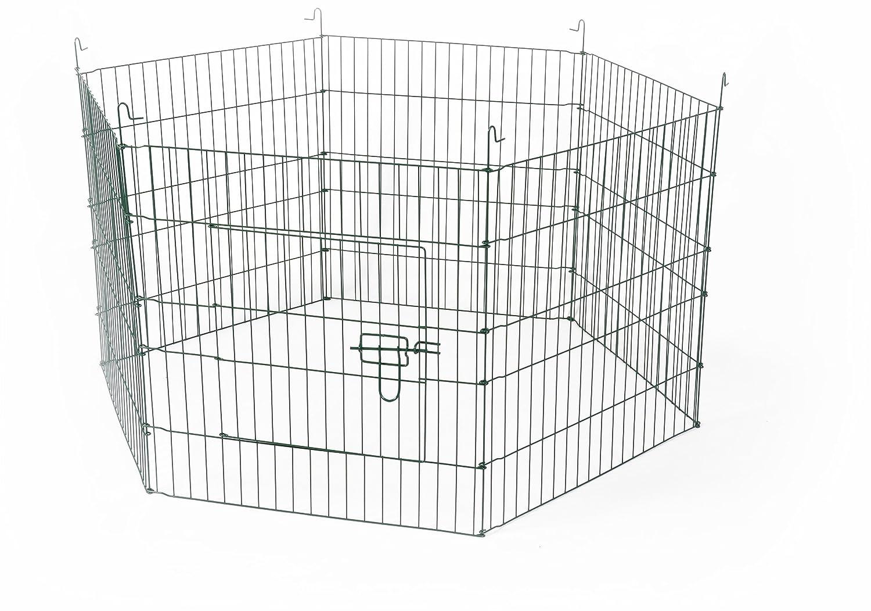 Carbone Pet Products S.r.l. RECINTO per Conigli Composto da 6 Pannelli in Ferro ZINCATO