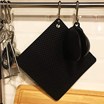 32-10 Grey MOMOCAT 4Pack Red Pot Holders and Silicone Mini Oven Mitts and Set Resistant Oven Gloves Flexible for Kitchen