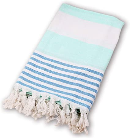 BEUFIRST Toalla de Piscina Grande 100% algodón. (100x180 cms). Toallas Playa algodón Fino 100% Natural. Muy absorbentes, Ligeras y de máxima suavidad. (Turquesa): Amazon.es: Hogar