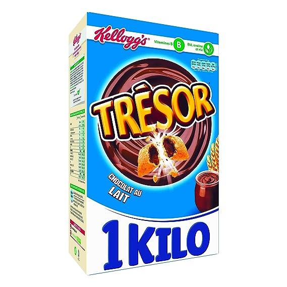 Kellogg s Céréales Trésor Chocolat au Lait 1 kg - Lot de 3  Amazon ... e1a9c3c7a92