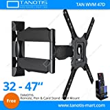 "Tanotis 6 Way Swivel Tilt TV Wall Mount For LCD/LED TV's Upto 32"" To 47"" Inch With Remote Stand Tan Acc Rms"
