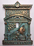 Hogwarts 9-3/4 (Harry Potter) Light Switch Cover (Aged Patina)