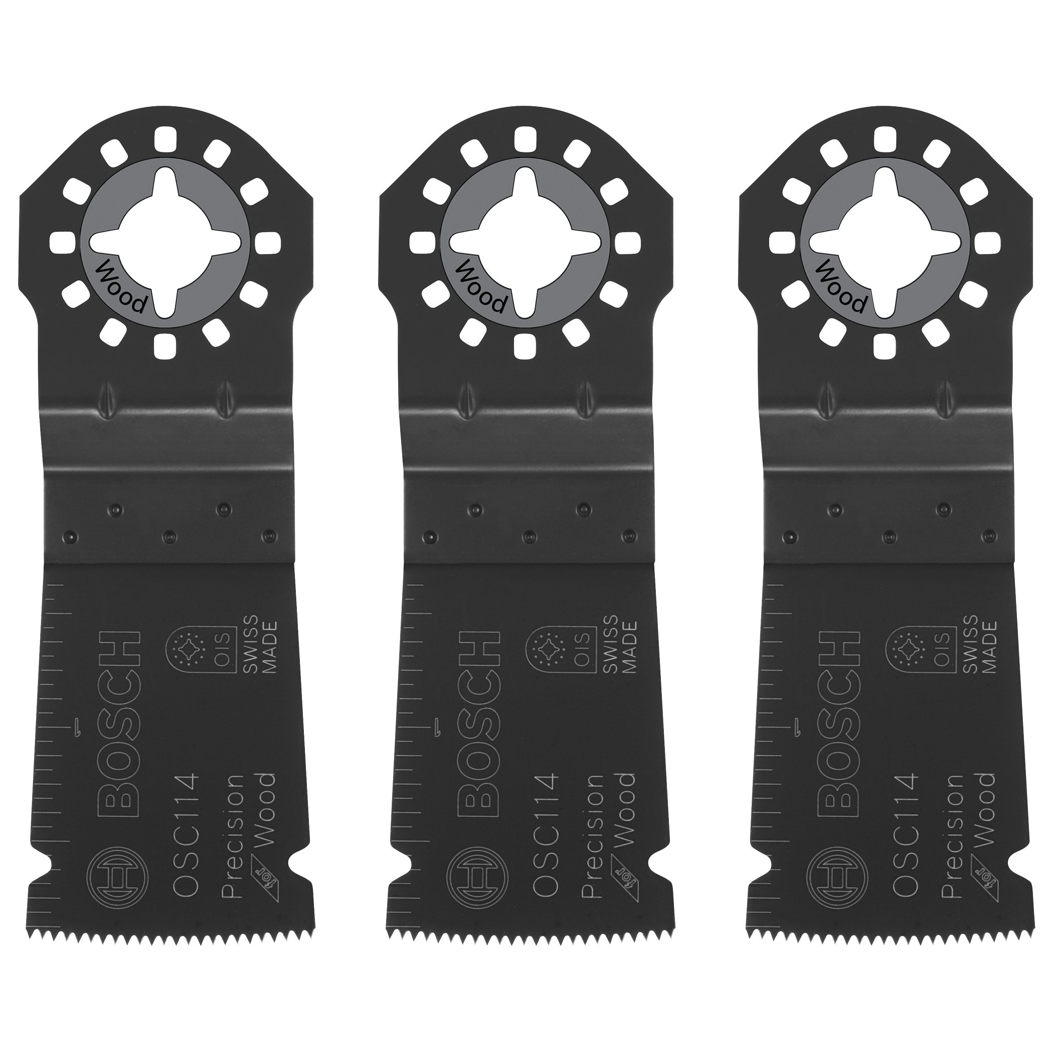 Bosch OSC114-3 1-1/4Inch x 1-5/8Inch Multi-Tool HCS Precision Plunge Cut Blades-Pack of 3