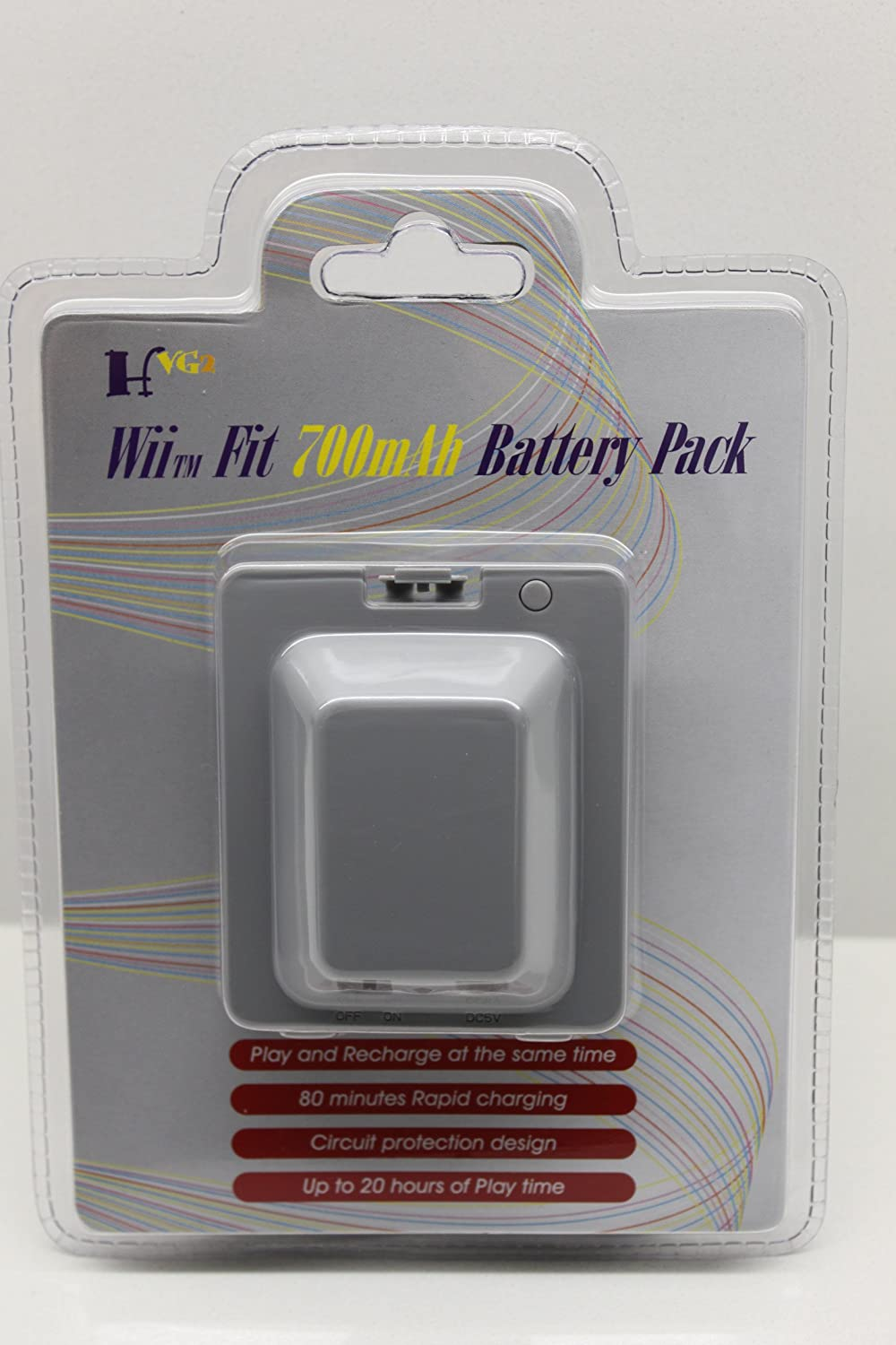 700mAh Rechargeable Battery Pack for Nintendo Wii Fit (Gray)