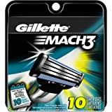 Gillette Mach3 Men's Razor Blade Refills, 10 Count (packaging may vary)