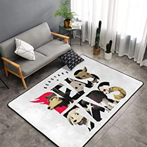 Beastars Bedroom Living Room Big Size Area Rugs Home Art Anime Floor Mat Doormats Bathroom Floor Mats Exercise Mat Throw Rugs Carpet 60