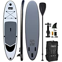 HIKS Battleship Grey 10.6ft / 3.2m Stand Up Paddle SUP Board Set Inc Paddle, Pump, Backpack & Leash Suitable all Abilities Ideal Beginners Inflatable Paddleboard Kit