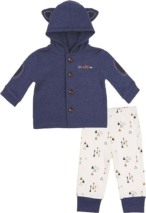 2f0f06ec9 Amazon.com  Baby Boy Hoodie Cardigan Set- Infant Hooded Sweater ...