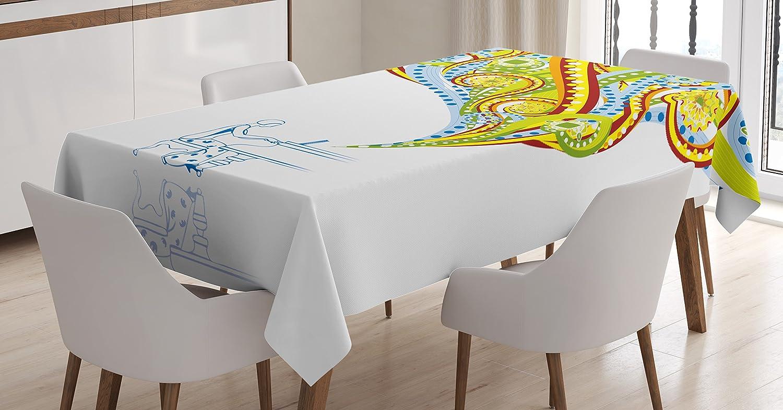 amazon com ambesonne nautical tablecloth hand drawn seashells