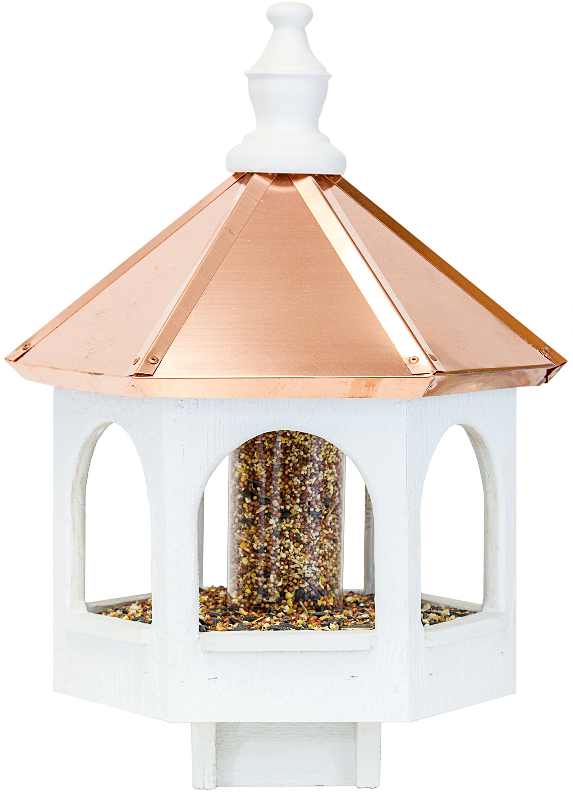 Amish 21'' Bird Feeder with Copper Roof, Handcrafted in the USA by Dress the Yard (Image #2)