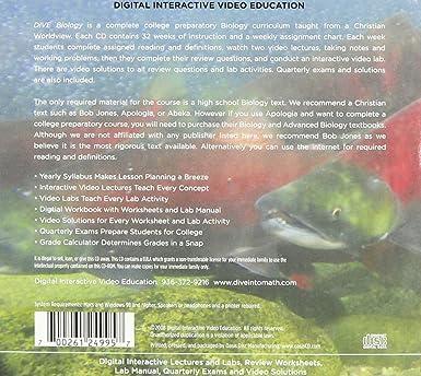 Amazon.com: DIVE Biology Instructional CD-ROM