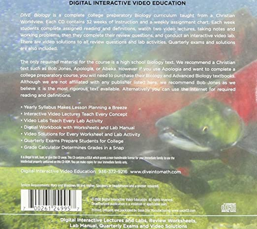 Free Worksheets education com free worksheets : Amazon.com: DIVE Biology Instructional CD-ROM