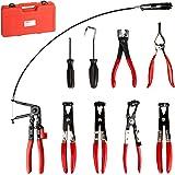 TecTake Pinces pour colliers de serrage réparation outil 9 pièces kit + coffret