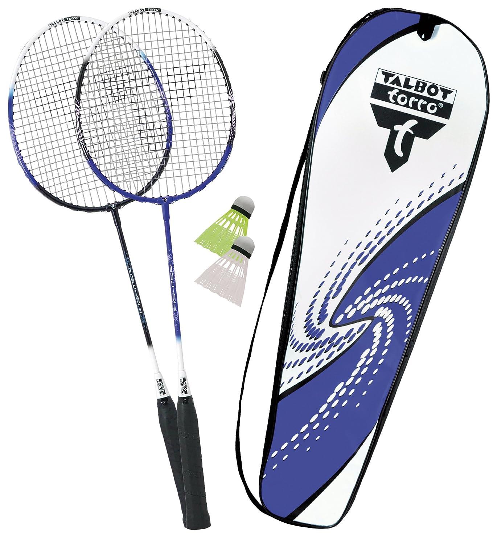 Talbot-Torro Premium Badminton-Set 2-Fighter, 2 Alu-Schläger Leicht und handlich, 2 Federbälle, in wertiger Tasche 2 Federbälle Federballset 449503 TAAS5|#Talbot Torro