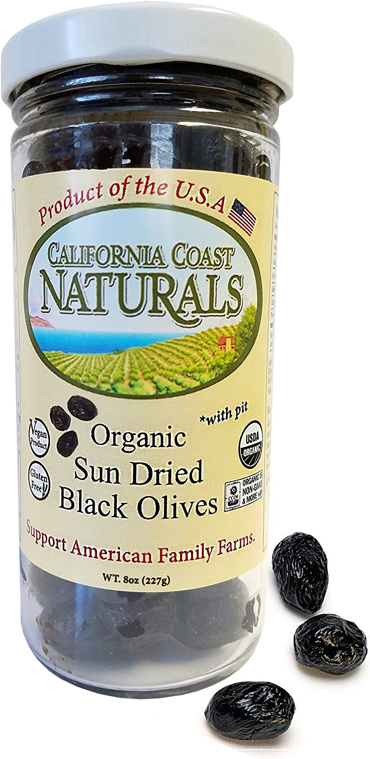 California Coast Naturals Organic Sun Dried Black Olives, 8oz