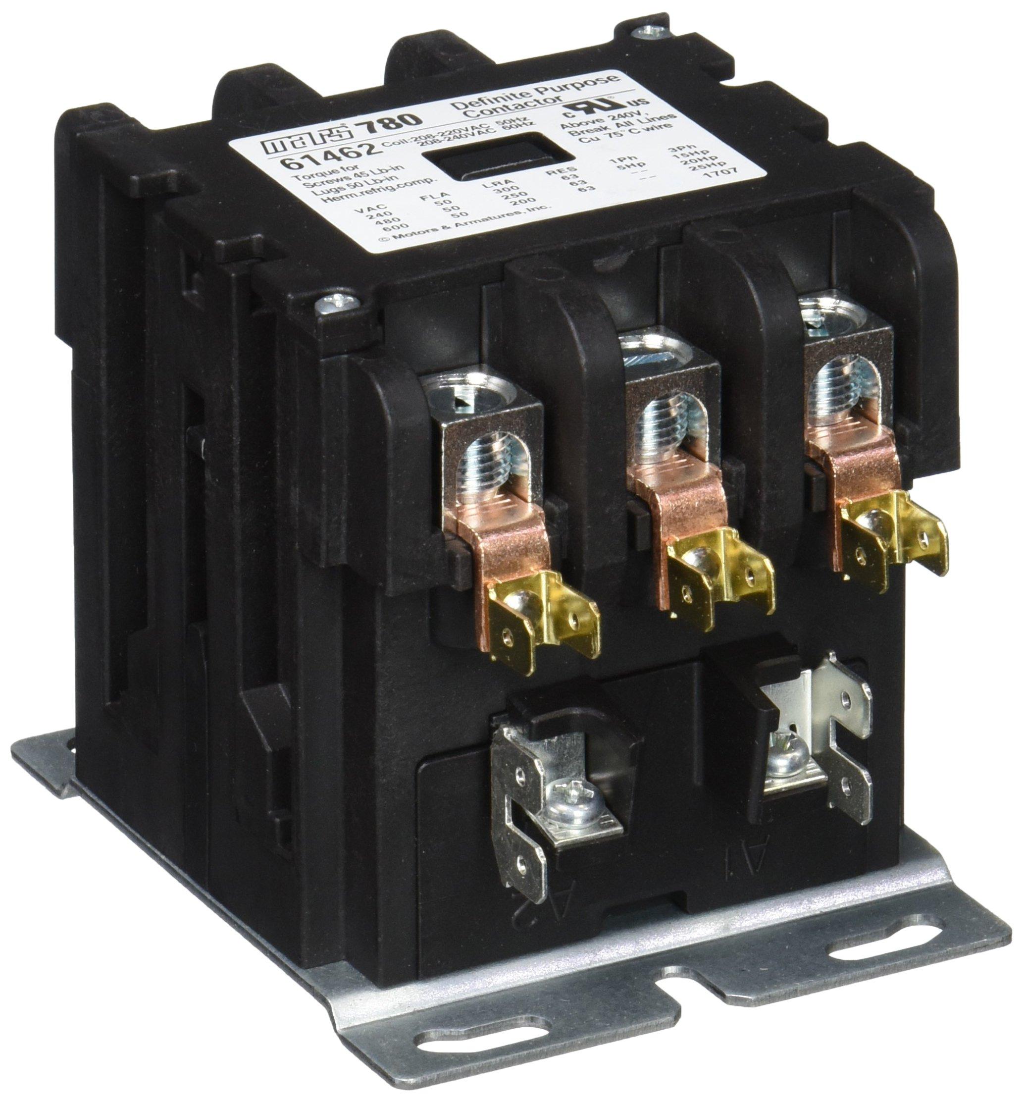 MARS - Motors & Armatures 61462 3P 50A 208-240V Box Lug Term Contactor