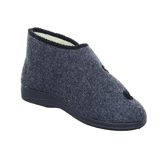 Chaussures Inter Homme Max Double Velcro, Ébauche De Garniture De Laine, De Feutre Anthracite, Noir, Taille 40