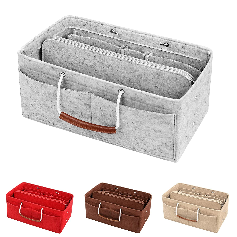 DONPEREGRINO Series Y Taschenorganizer Filz mit Tragegriffen 3mm Handtaschen Bag in Bag Organizer