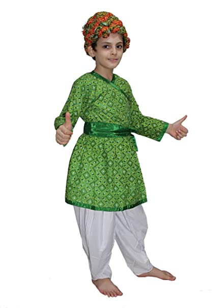 524baa297 Buy Kaku Fancy Dresses Indian Traditional Rajasthani Boy Costume -Green,  10-12 Years, for Boys Online at Low Prices in India - Amazon.in