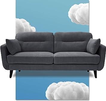 "Amazon.com: Serta Sierra Living Room Sofas Modern Design Microfiber Upholstered Couch Ideal For Smaller Spaces, 73"", Slate Gray: Furniture & Decor"