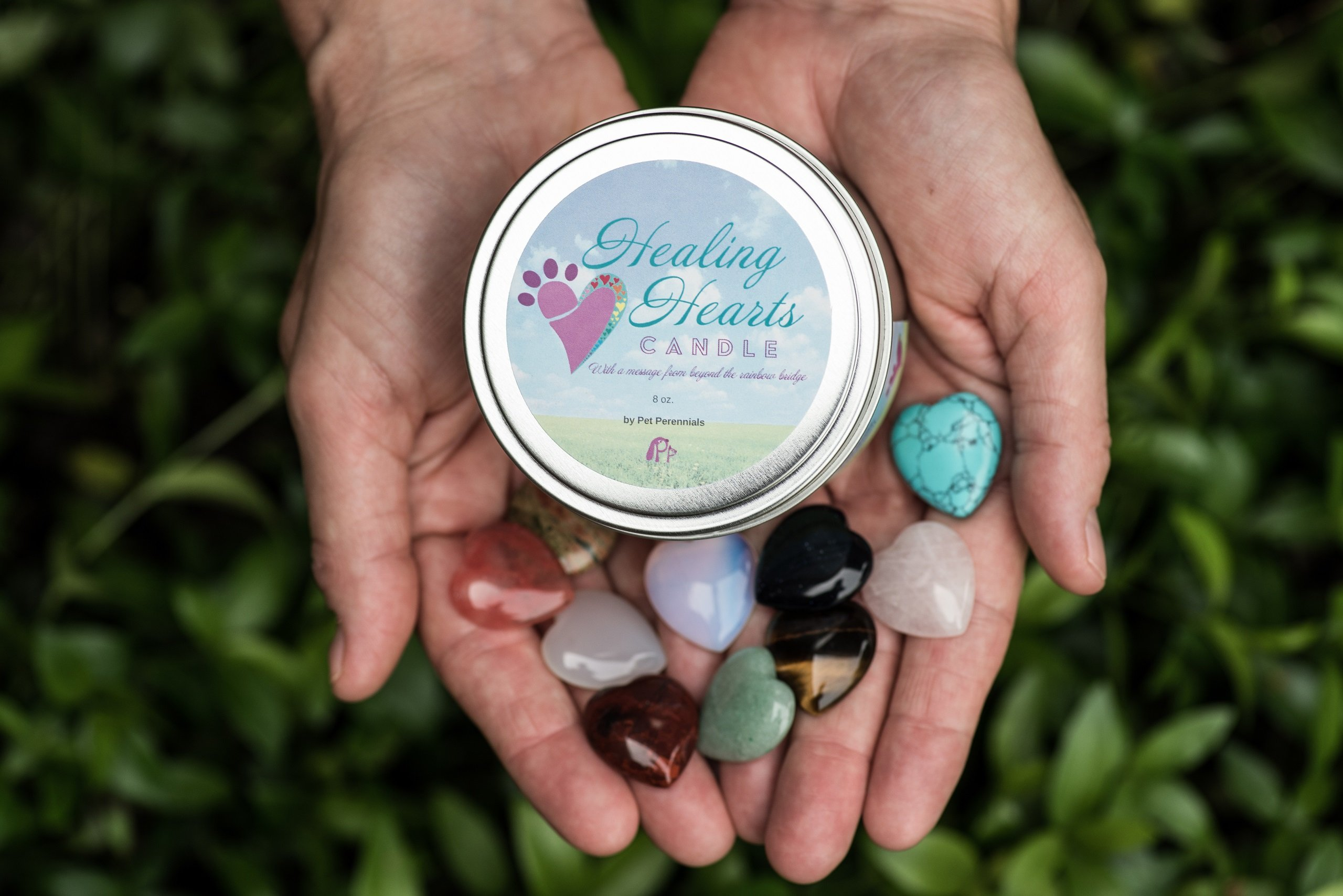 Dog Card and Healing Hearts Pet Memorial Candle by Pet Perennials love - seeds - life (Image #9)