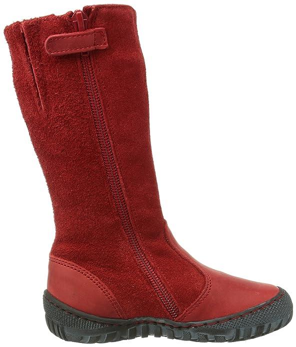 Pololo Linda, Bottes à tige haute et doublure intérieure fille - Rouge - Rot (Pepper rot/339), 24 EU (7 Kids UK) EU
