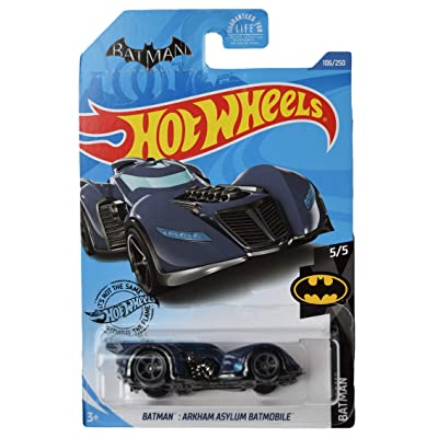 Hot Wheels Treasure Hunt Arkham Asylum Batmobile 106/250, Dark Blue: Toys & Games