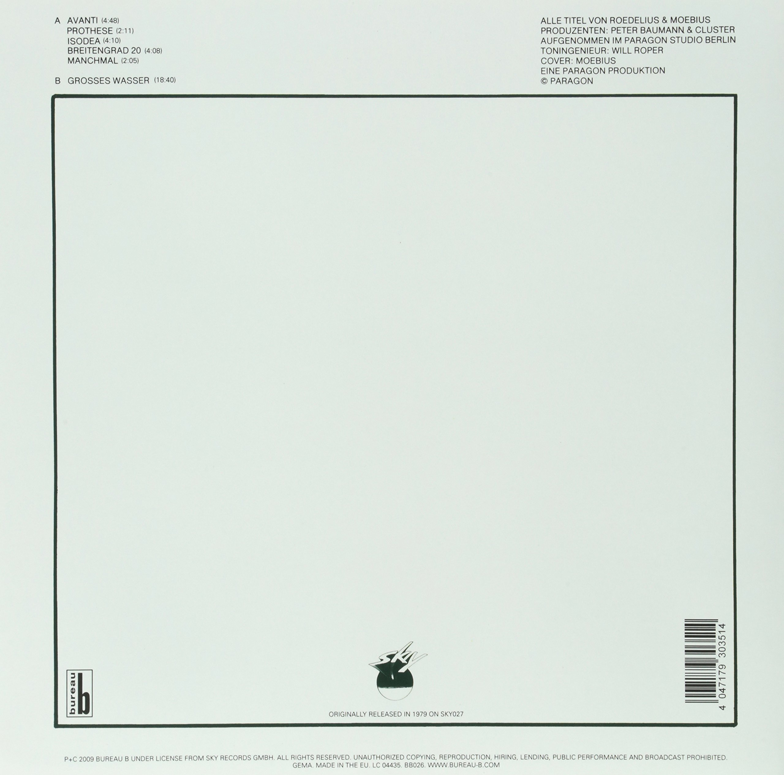 Grosses Wasser [Vinyl] by Bureau B