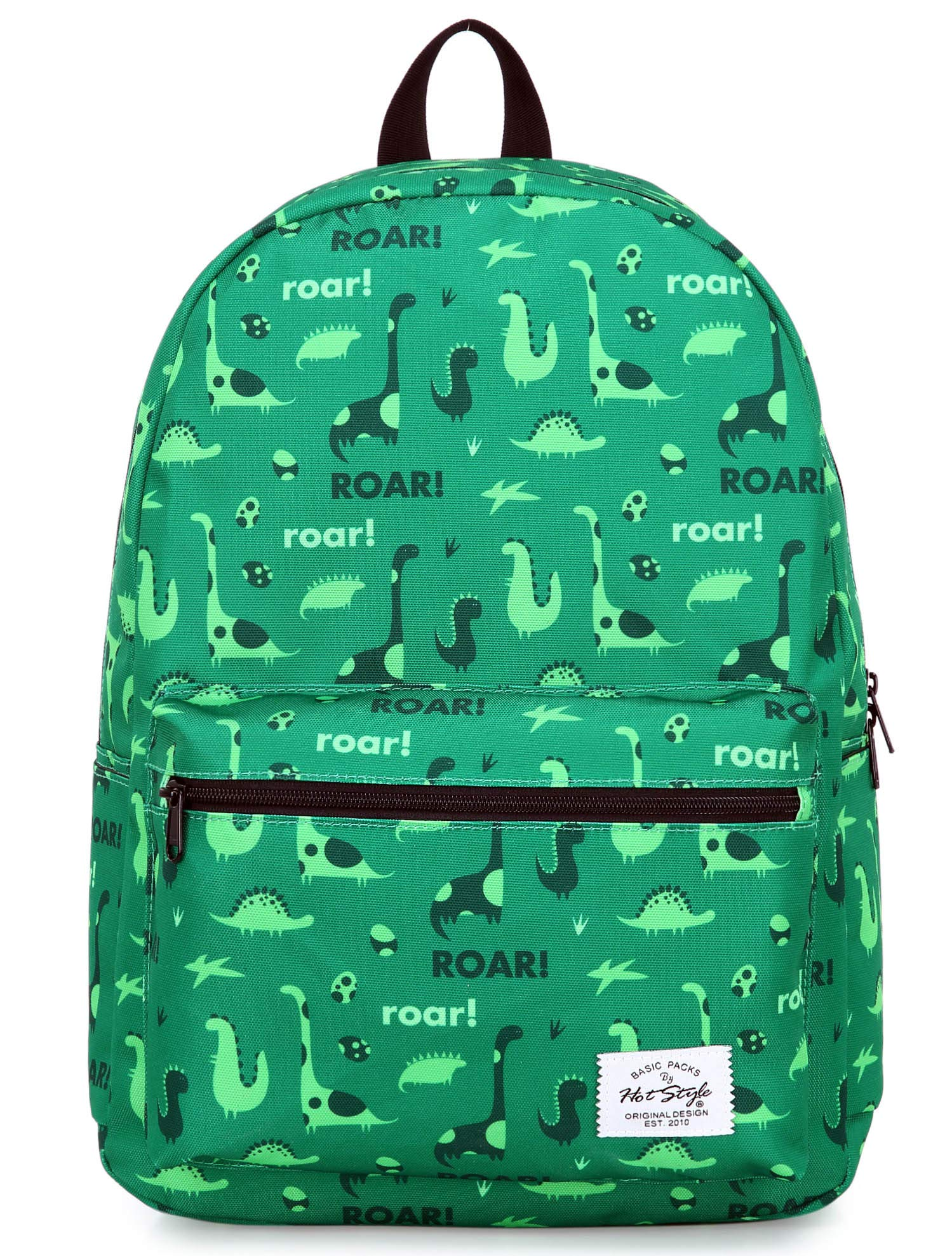 hotstyle TRENDYMAX Backpack Cute for School | 16''x12''x6'' | Holds 15.4-inch Laptop | Dinosaurs, Green by hotstyle (Image #2)