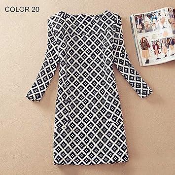 Plus Size Women Clothing Spring Fashion Flower Print Women Dress Ladies Long Sleeve Casual Autumn Dresses