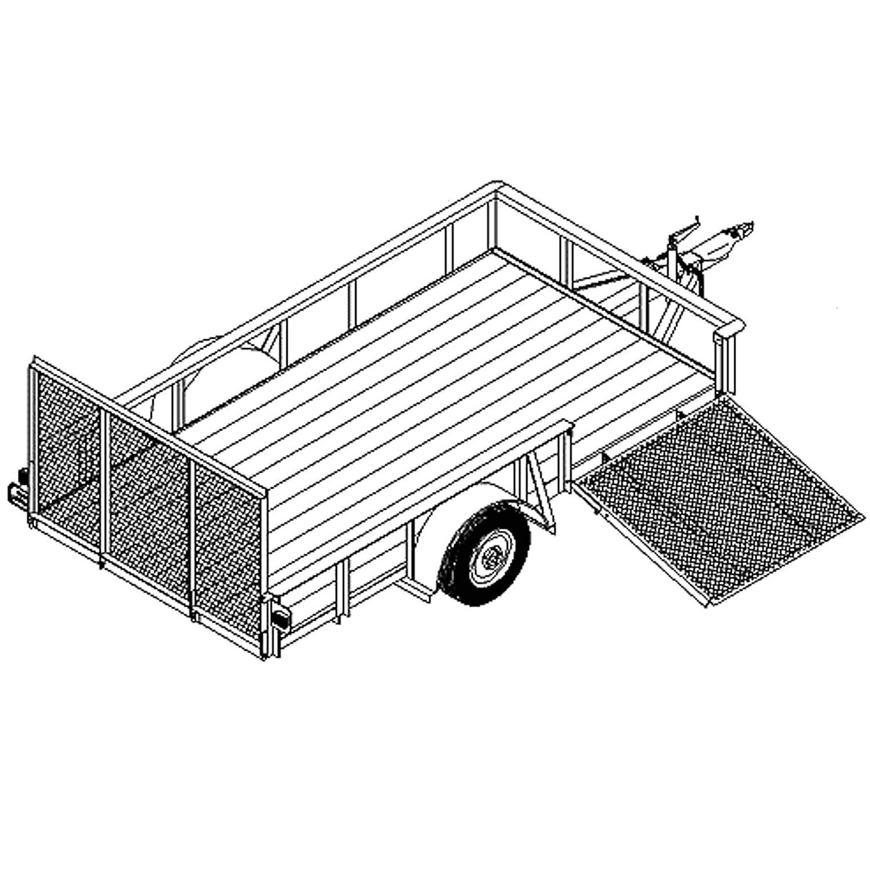 Utility Trailer Plans Blueprints 12 X 66 Model Wiring Diagrams For Trailers Tilt Car Hauler 1112 Automotive