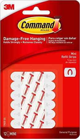 20 Strips Small 20-Strips Command Refill Strips White 17022-ES