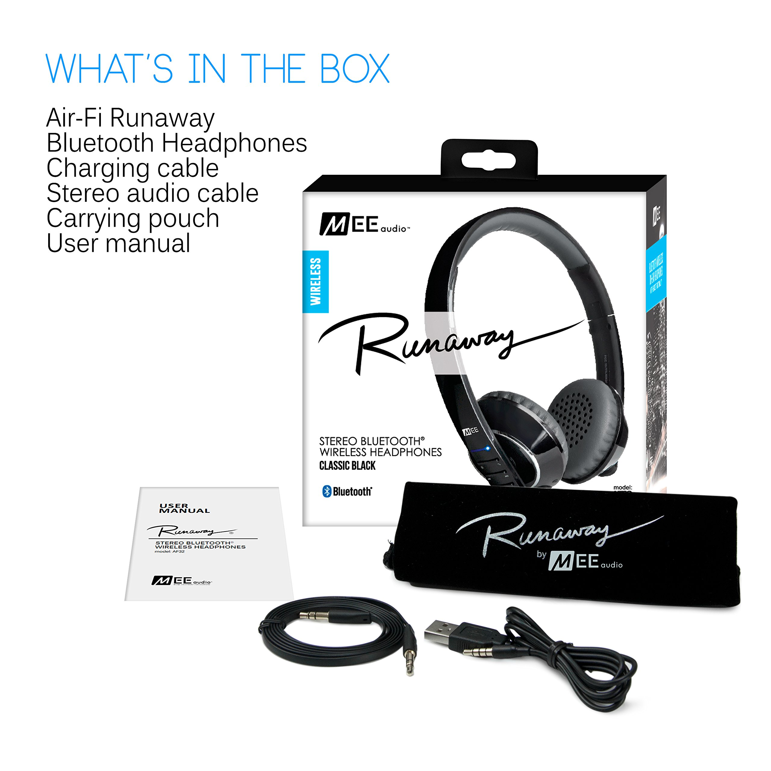 MEE audio Runaway 4.0 Bluetooth Stereo Wireless + Wired Headphones with Microphone (Black) by MEE audio (Image #7)