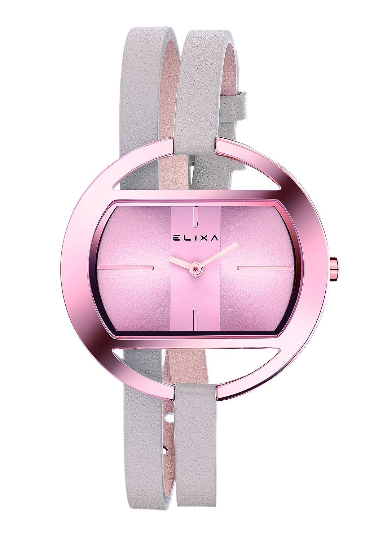 Elixa e125-l511 Reloj de Pulsera de Mujer Rosa Sunray Dial ...