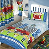 Nee Naa Fire Engine Single Duvet Cover and Pillowcase Set