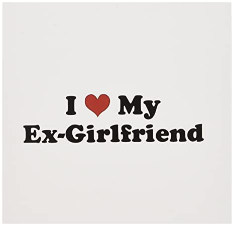 Amazon com : 3dRose I Love My Ex Girlfriend - Greeting Cards