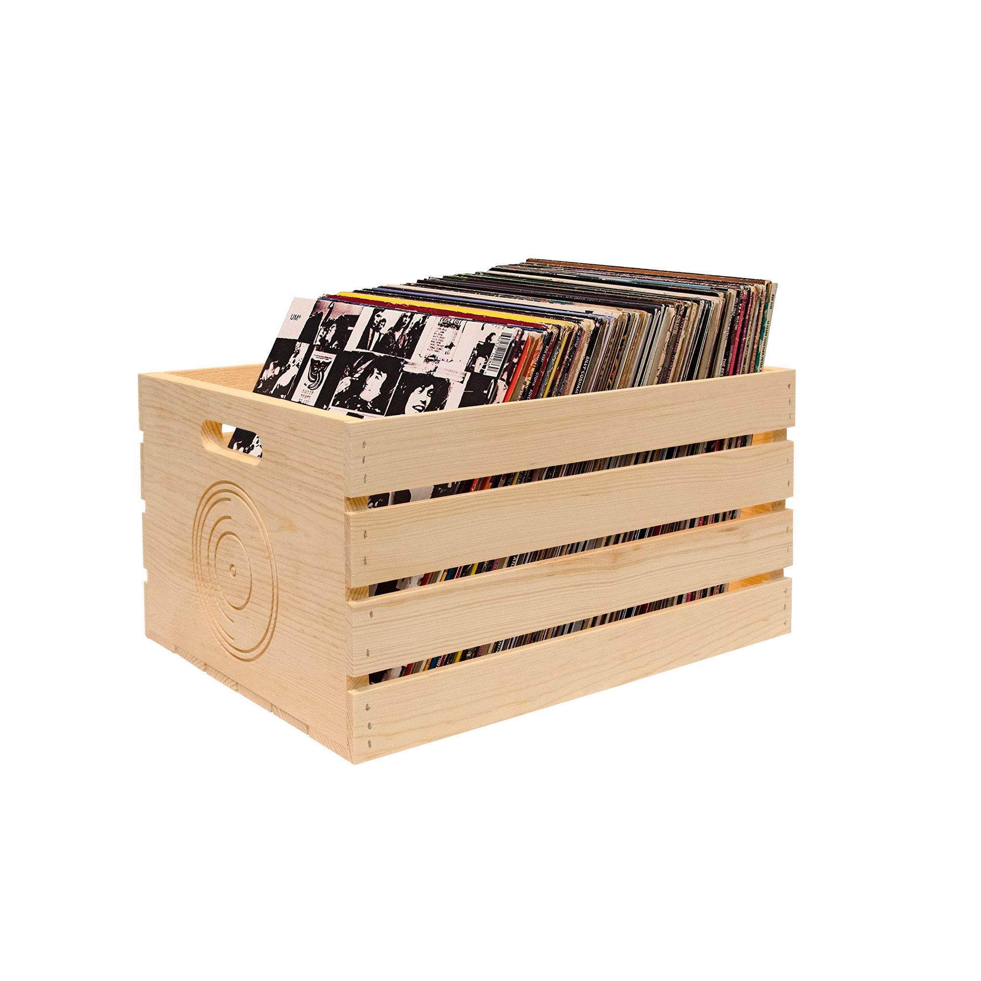 Pine Storage Crate for LP's/Albums (2 Pack) by MPI Marketing