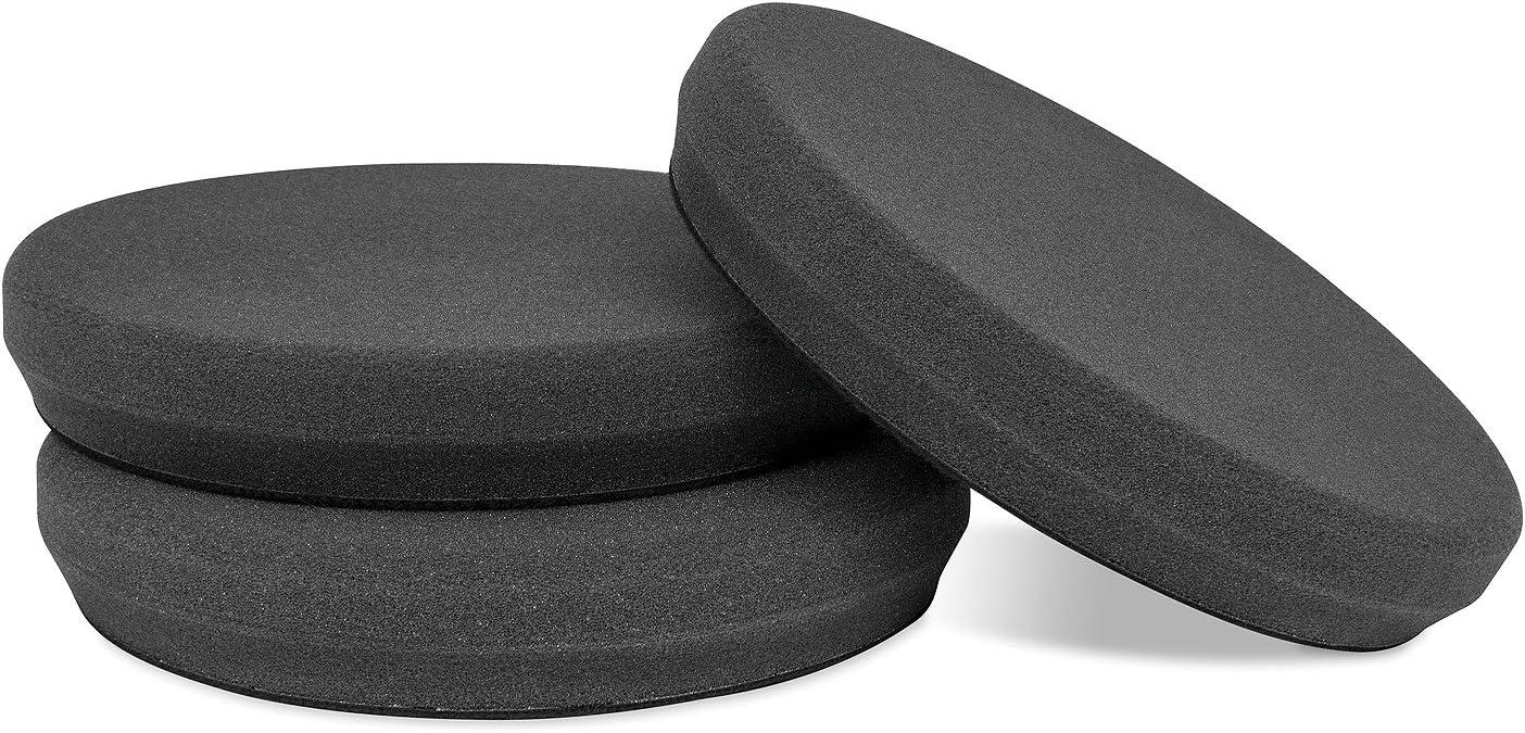 "Griot's Garage 10630 6.5"" Black Foam Finishing Pads (Set of 3)"