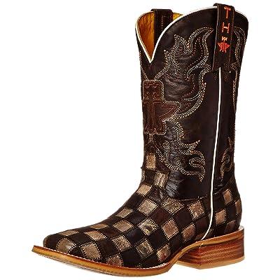 Tin Haul Shoes Men's Gun Metal Check Western Boot   Western