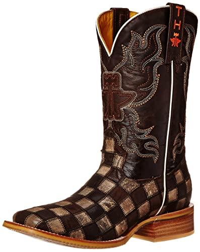 Tin Haul Shoes Men's Gun Metal Check Western Boot Desert Sand/Brown 12 EE US