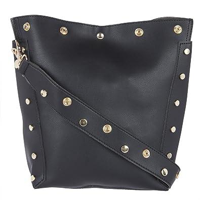 f5506f94de6d Fur Jaden Quirky Black Bucket Tote Bag for Women  Amazon.in  Shoes    Handbags