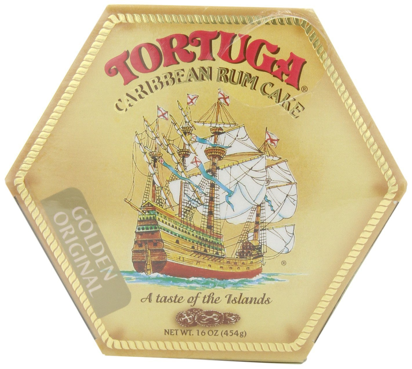 TORTUGA Caribbean Original Rum Cake with Walnuts – 16 oz. - 2 Pack - The Perfect Premium Gourmet Gift by TORTUGA (Image #1)