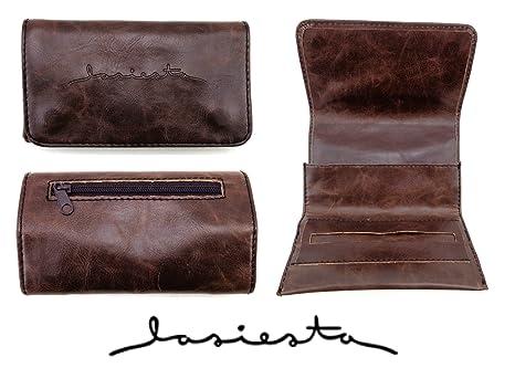 La siesta - Petaca para tabaco de liar (compartimento fino), color marrón